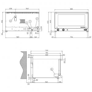 Печь конвекционная UNOX XF043
