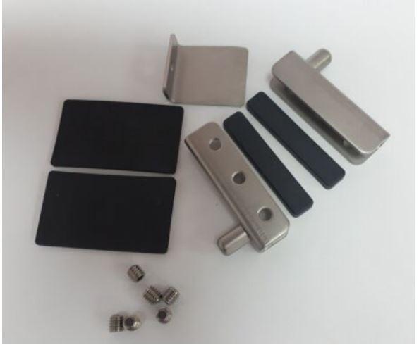 Фиксаторы для внутреннего стекла XFR033 комплект печи Unox 6 серия